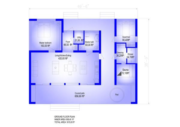 Modern Floor Plan - Main Floor Plan #549-24