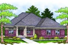 European Exterior - Front Elevation Plan #70-813