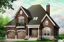 Dream House Plan - European Exterior - Front Elevation Plan #23-546