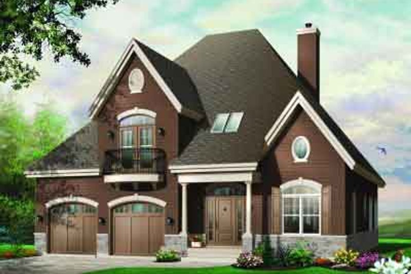 House Plan Design - European Exterior - Front Elevation Plan #23-546