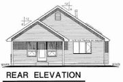 Country Style House Plan - 2 Beds 2 Baths 1159 Sq/Ft Plan #18-1061 Exterior - Rear Elevation