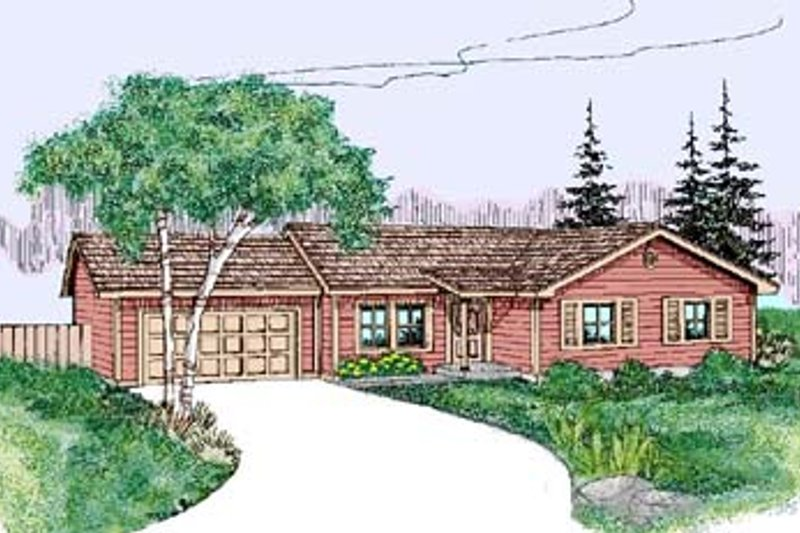 Ranch Exterior - Front Elevation Plan #60-534 - Houseplans.com