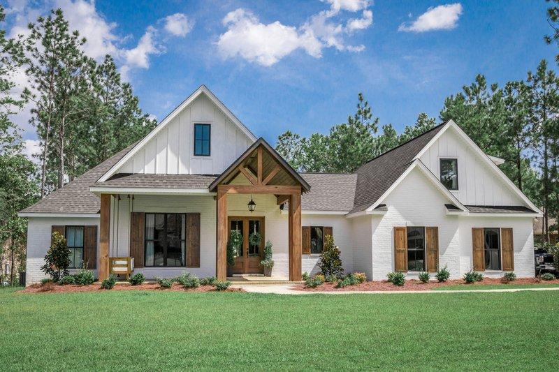Architectural House Design - Modern Exterior - Front Elevation Plan #430-184