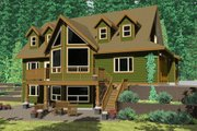 Craftsman Style House Plan - 3 Beds 2.5 Baths 2113 Sq/Ft Plan #126-144 Exterior - Rear Elevation