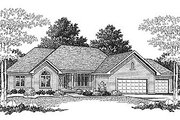 Traditional Style House Plan - 3 Beds 2.5 Baths 2017 Sq/Ft Plan #70-282 Exterior - Front Elevation