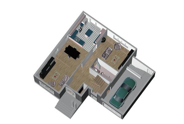 European Style House Plan - 3 Beds 1 Baths 1888 Sq/Ft Plan #25-4846 Floor Plan - Main Floor Plan