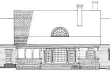 Southern Exterior - Rear Elevation Plan #137-236