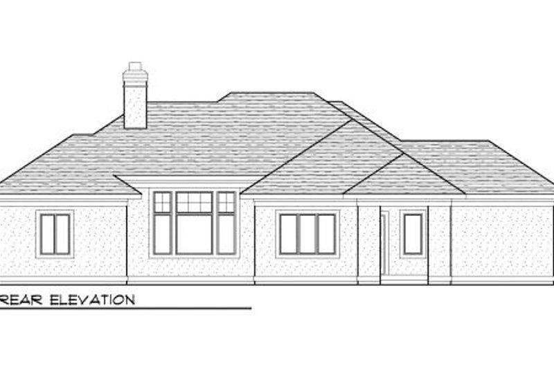 European Exterior - Rear Elevation Plan #70-984 - Houseplans.com