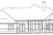 European Style House Plan - 3 Beds 2.5 Baths 2517 Sq/Ft Plan #20-129 Exterior - Rear Elevation