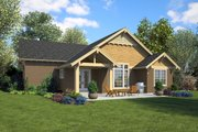 Ranch Style House Plan - 3 Beds 2 Baths 1834 Sq/Ft Plan #48-949 Exterior - Rear Elevation