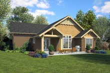 House Plan Design - Ranch Exterior - Rear Elevation Plan #48-949