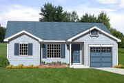 Ranch Style House Plan - 3 Beds 1.5 Baths 1051 Sq/Ft Plan #116-246 Exterior - Front Elevation