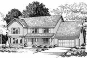 Traditional Style House Plan - 4 Beds 2.5 Baths 2370 Sq/Ft Plan #70-376