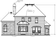 European Style House Plan - 3 Beds 2 Baths 2310 Sq/Ft Plan #23-367 Exterior - Rear Elevation