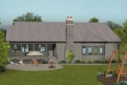 Craftsman Style House Plan - 4 Beds 3 Baths 2123 Sq/Ft Plan #56-699 Exterior - Rear Elevation