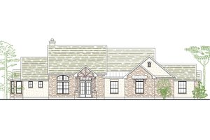Architectural House Design - Country Exterior - Front Elevation Plan #80-176