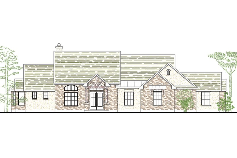 Country Exterior - Front Elevation Plan #80-176