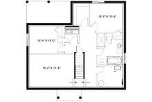 Craftsman Floor Plan - Lower Floor Plan Plan #23-2696