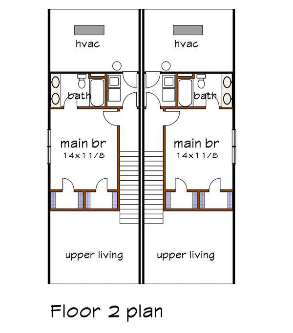Cottage Floor Plan - Upper Floor Plan #79-241