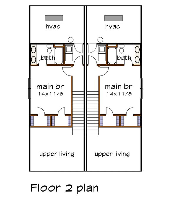 House Plan Design - Cottage Floor Plan - Upper Floor Plan #79-241