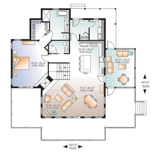 European Floor Plan - Main Floor Plan Plan #23-2628