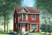 Traditional Style House Plan - 3 Beds 1.5 Baths 1169 Sq/Ft Plan #25-4501 Exterior - Front Elevation