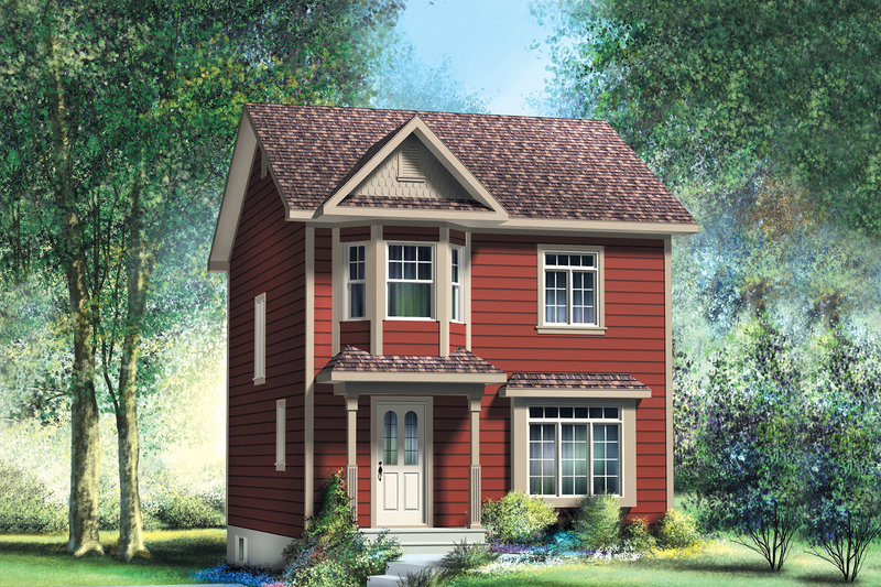 Traditional Style House Plan - 3 Beds 1.5 Baths 1169 Sq/Ft Plan #25-4501