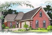 European Style House Plan - 3 Beds 2.5 Baths 1749 Sq/Ft Plan #15-241 Exterior - Front Elevation