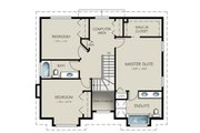 Traditional Style House Plan - 4 Beds 3 Baths 1985 Sq/Ft Plan #18-286 Floor Plan - Upper Floor Plan