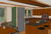 Craftsman Style House Plan - 2 Beds 2 Baths 1600 Sq/Ft Plan #454-13 Interior - Kitchen