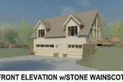 Traditional Style House Plan - 1 Beds 1.5 Baths 1220 Sq/Ft Plan #81-13913 Exterior - Other Elevation