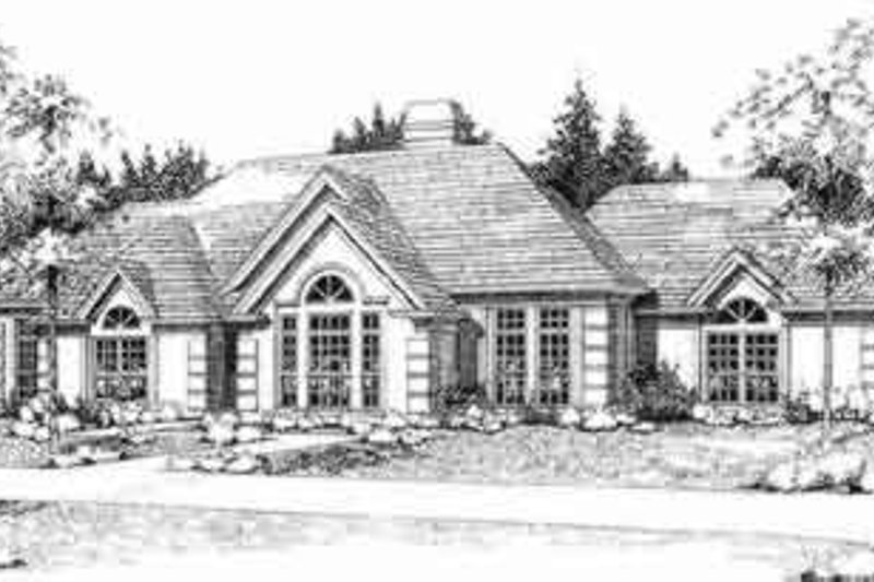 European Style House Plan - 3 Beds 2 Baths 2198 Sq/Ft Plan #120-127 Exterior - Front Elevation