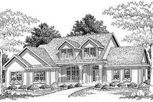 Traditional Exterior - Front Elevation Plan #70-297