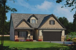 Architectural House Design - Craftsman Exterior - Front Elevation Plan #20-2254