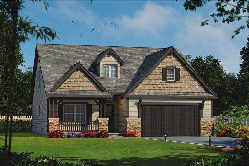 Architectural House Design - Craftsman Exterior - Front Elevation Plan #20-2254