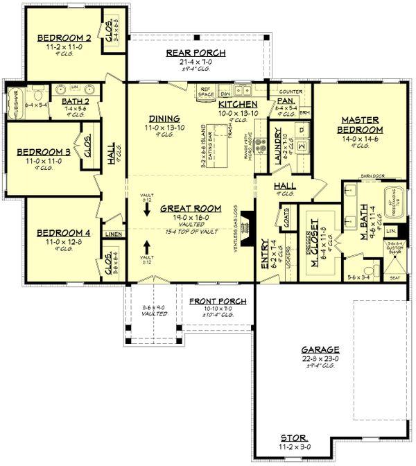 Dream House Plan - Farmhouse Floor Plan - Main Floor Plan #430-225