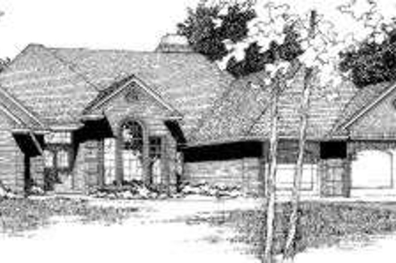 European Style House Plan - 4 Beds 3 Baths 2358 Sq/Ft Plan #310-112 Exterior - Front Elevation