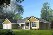 Traditional Style House Plan - 3 Beds 2.5 Baths 3329 Sq/Ft Plan #100-109 Exterior - Front Elevation