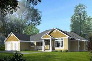 Dream House Plan - Traditional Exterior - Front Elevation Plan #100-109