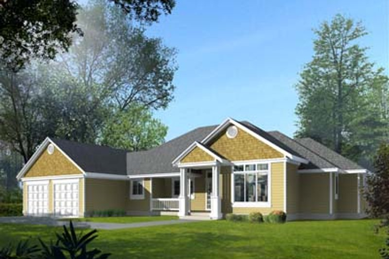 Traditional Exterior - Front Elevation Plan #100-109 - Houseplans.com
