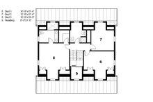 Colonial Floor Plan - Upper Floor Plan Plan #497-49