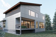 House Plan Design - Contemporary Exterior - Rear Elevation Plan #1066-32