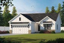 Dream House Plan - Farmhouse Exterior - Front Elevation Plan #20-2363