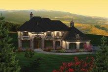 Dream House Plan - European Exterior - Front Elevation Plan #70-1090