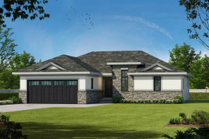 Dream House Plan - European Exterior - Front Elevation Plan #20-2068