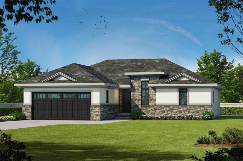 European Style House Plan - 2 Beds 2 Baths 1436 Sq/Ft Plan #20-2068