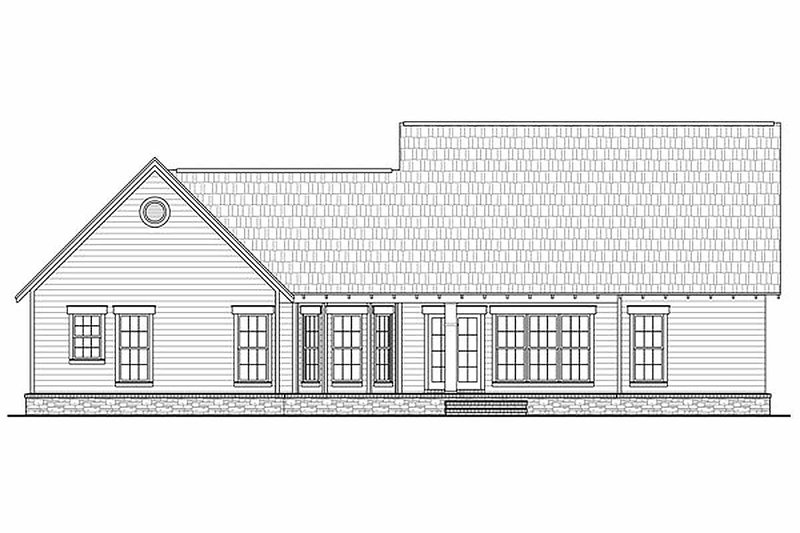 Craftsman Exterior - Rear Elevation Plan #21-247 - Houseplans.com
