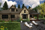 Contemporary Style House Plan - 3 Beds 3 Baths 2500 Sq/Ft Plan #51-587 Exterior - Rear Elevation