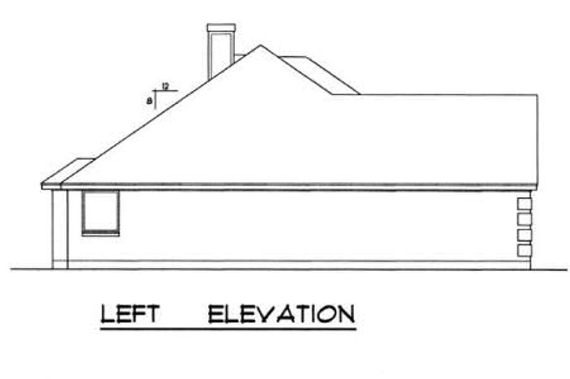 Traditional Exterior - Other Elevation Plan #40-242 - Houseplans.com
