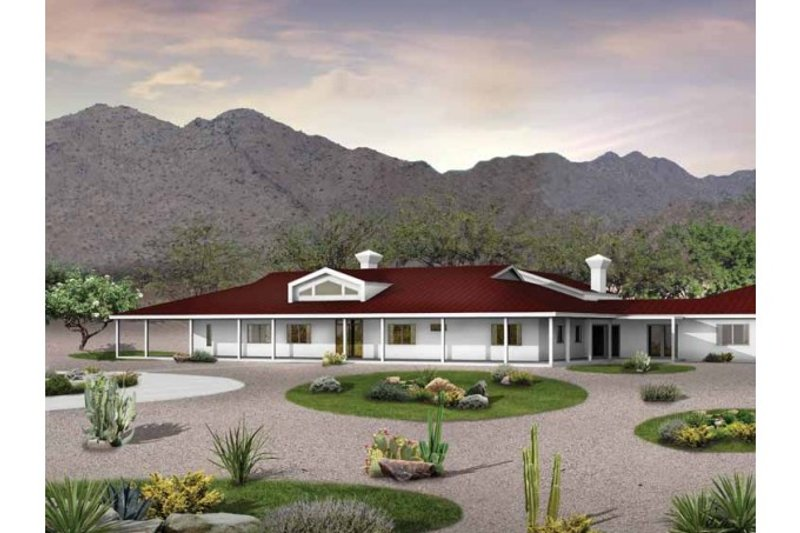 Ranch Style House Plan - 5 Beds 4 Baths 5024 Sq/Ft Plan #72-390